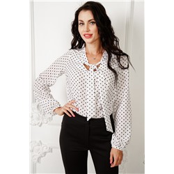 Блуза Лея (в горошек) Б980-10